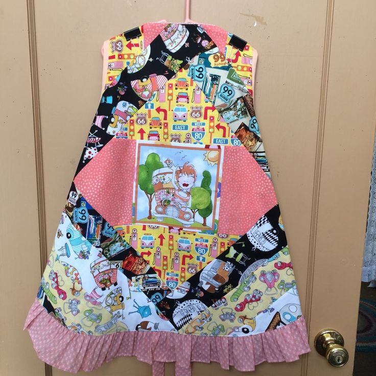 Handmade Apron Mini Quilt (No Rhyme Or Reason) Glamping On Route 66  | eBay