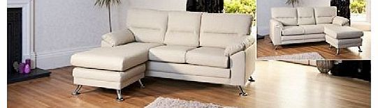 Sofa Collection Brand New Cream Reversible Corner Sofa in Bonded Leather With Chrome Feet No description (Barcode EAN = 5060363582501). http://www.comparestoreprices.co.uk/leather-corner-sofas/sofa-collection-brand-new-cream-reversible-corner-sofa-in-bonded-leather-with-chrome-feet.asp