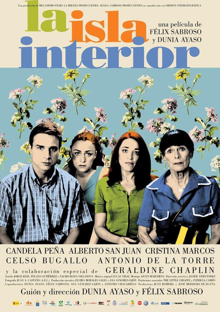 """MP500. """"La Isla Interior"""" Spanish Movie Poster by Juan Gatti (Félix Sabroso y Dunia Ayaso 2010) / #Movieposter"""