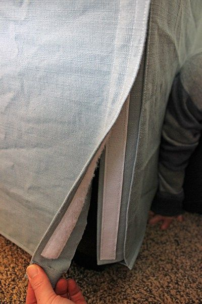 TwoFeetFirst – How to Make a Slipcover for a Couch                              …