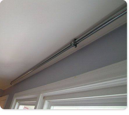 DIY Curtain rod of any length from metal conduit - great idea and cool industrial look.