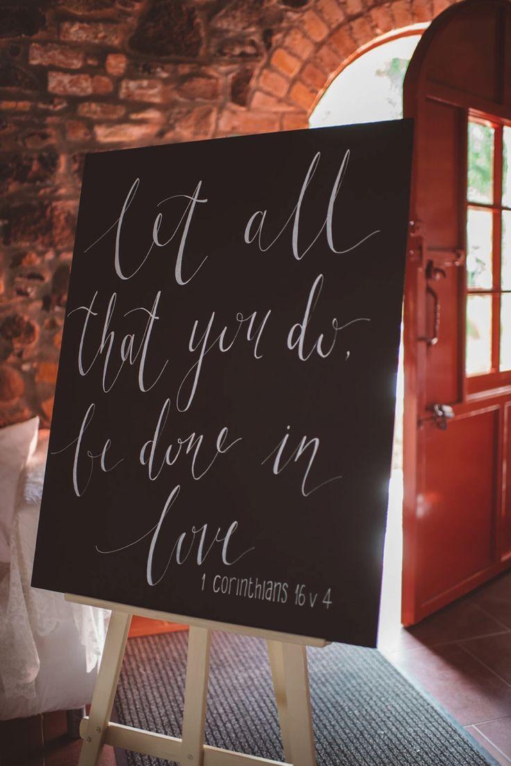Blackboard Calligraphy Sign Words Love Whimsical Boho Woodland Wedding
