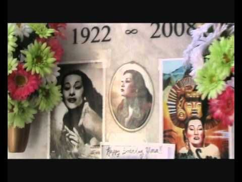 Yma Sumac - the grave of legendary singer / acress from Peru - immortali...