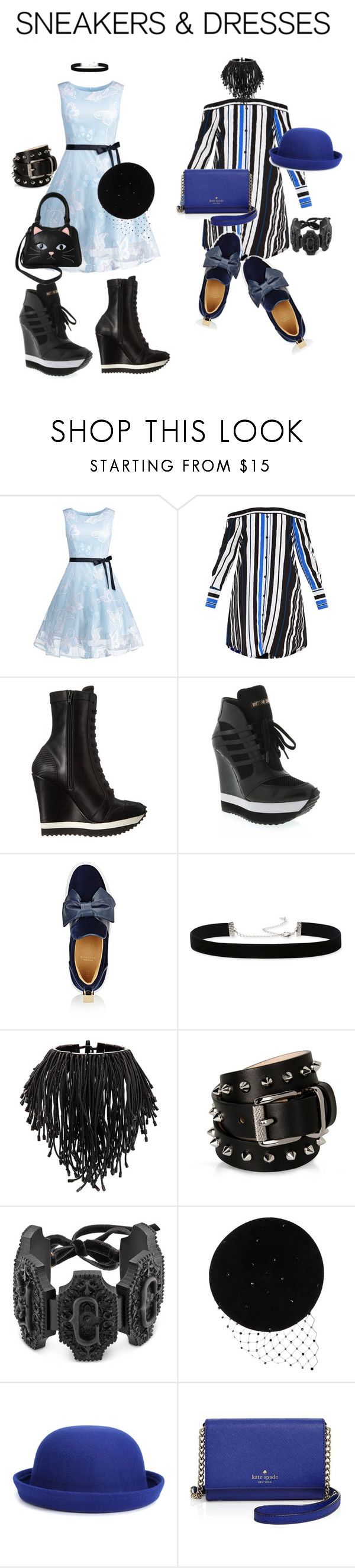 """#sneakersanddresses"" by glamourgrammy ❤ liked on Polyvore featuring Ruthie Davis, BUSCEMI, 2028, Monies, Barbara Bui, Gucci, Victoria Grant, WithChic, Kate Spade and Sleepyville Critters"