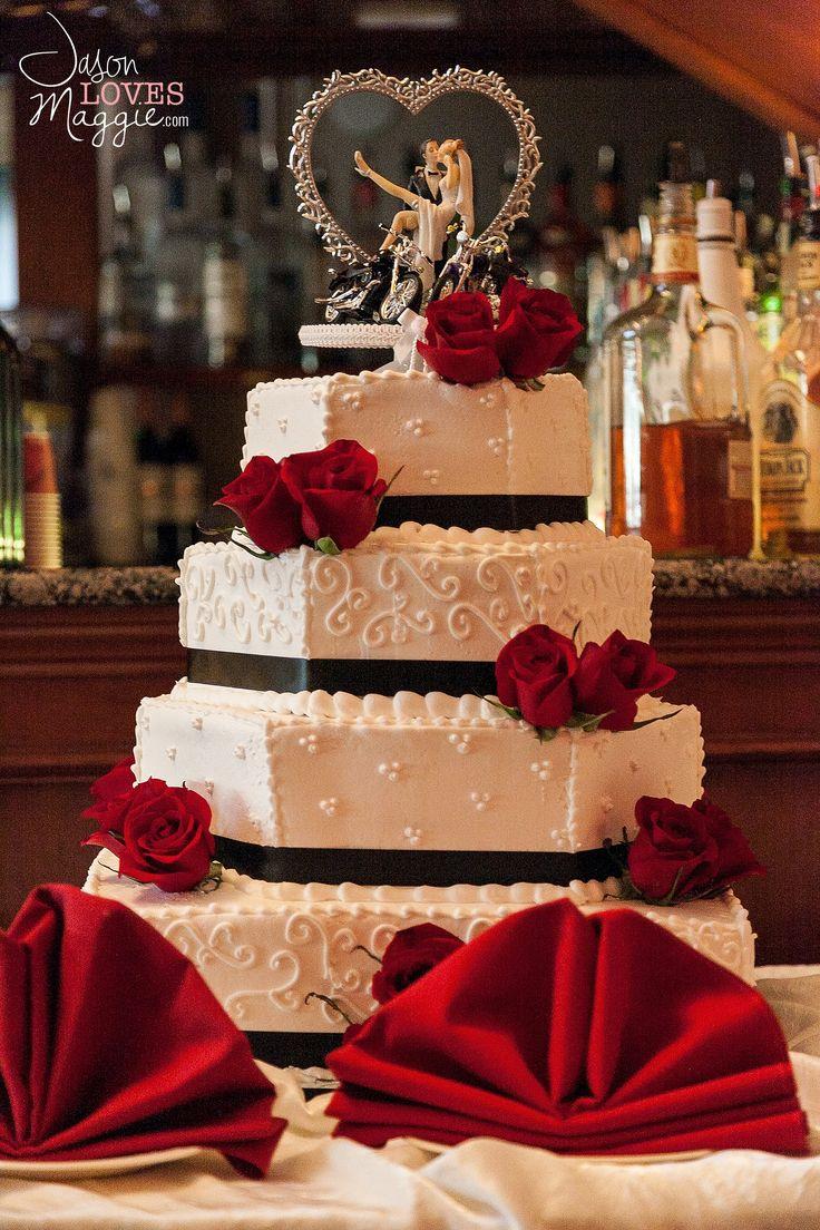 Harley Wedding Cake, wedding details. Photo by Jason Loves Maggie, Photographers. #weddingcake #weddingday #details #weddingphotography #connecticutwedding #harley #jasonlovesmaggie