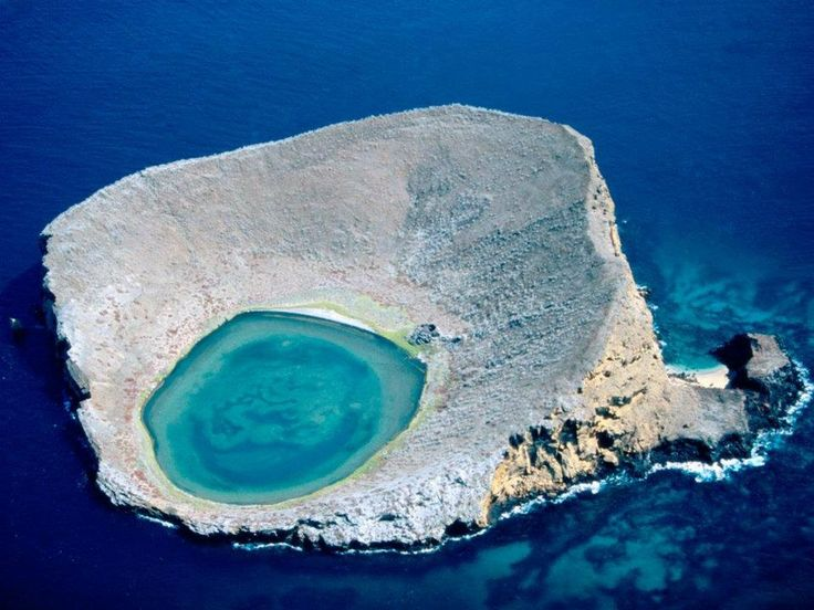 Galapagos Lagoon, a stunning group of coral and rock formations encircling a pool of clear blue waters
