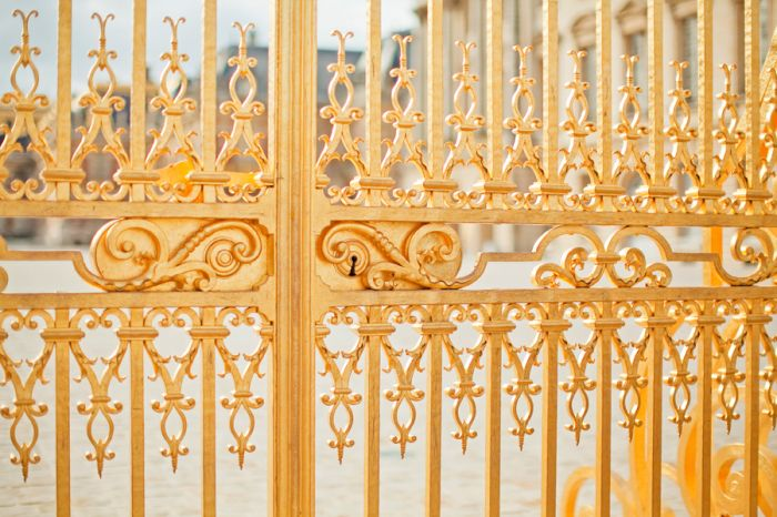 Gold Gate of Versailles   photography by http://danielleaquilinephotography.com/