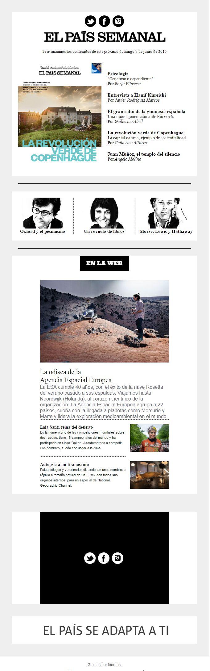 Newsletter El País Semanal