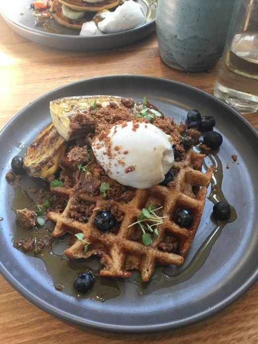 #waffles #vegan #breakfast