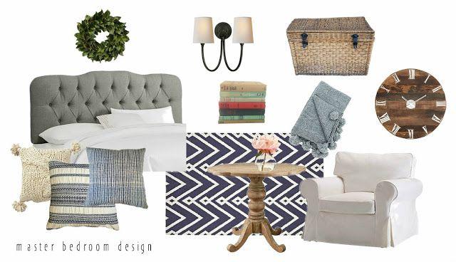 Blue & Neutral Bedroom Design