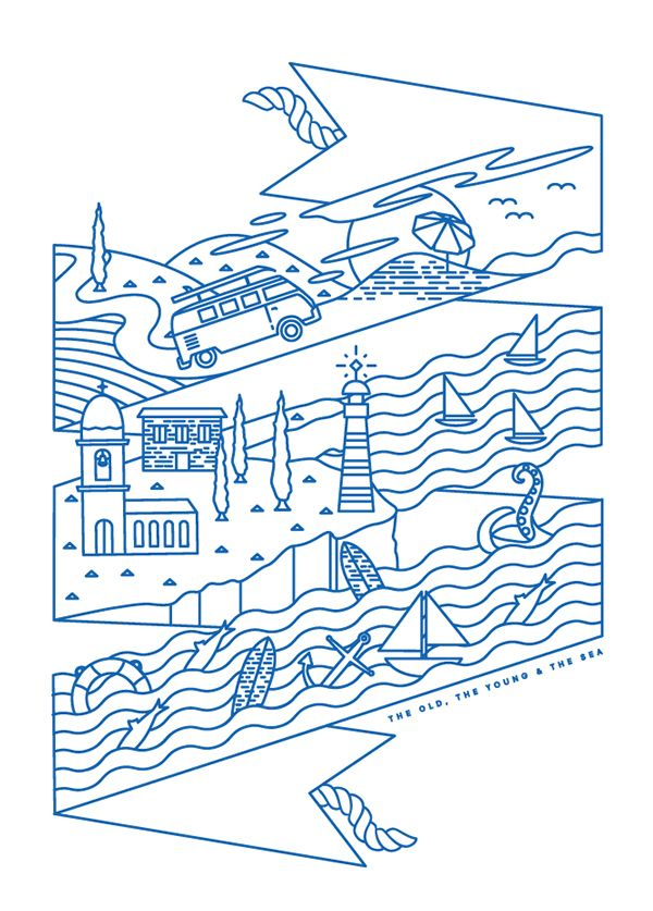 The old, the Young and the Sea Shirt on Behance