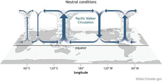 A new analysis using changes in cloud cover over the tropical Indo-Pacific Ocean showed that a weakening of a major atmospheric circulation system over the last century is due, in part, to increased greenhouse gas emissions. The findings provide new evidence that climate change in the tropical Pacific will result in changes in rainfall patterns in the region and amplify warming near the equator in the future.