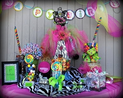 Colorful zebra party