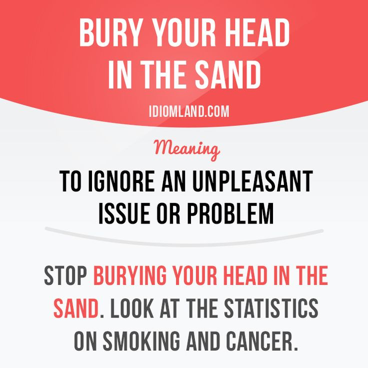 to bury one's head in the sand idiom pictures - Поиск в Google