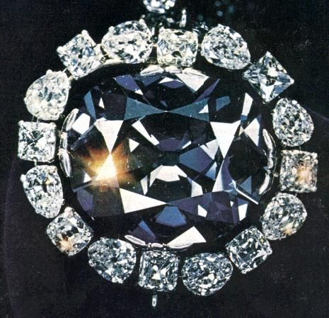 The Hope Diamond, once owned by Marie Antoinette