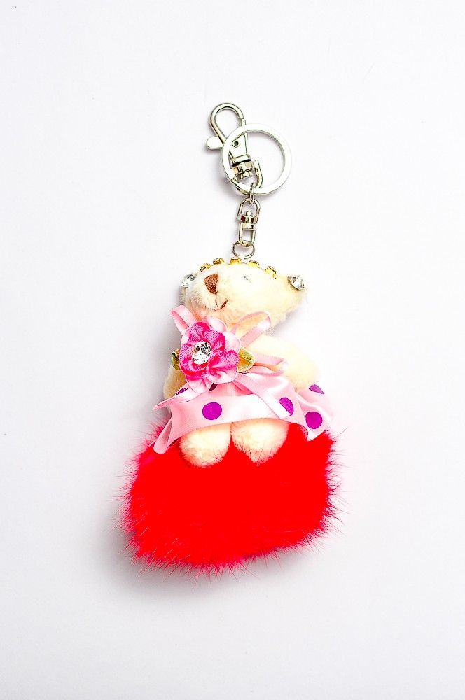 Doll Key Chain DKC04/ Bag Charm Red Rp 60.000