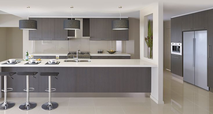 Cabinets - Polytec Thermolaminate - Grey Oak Natura