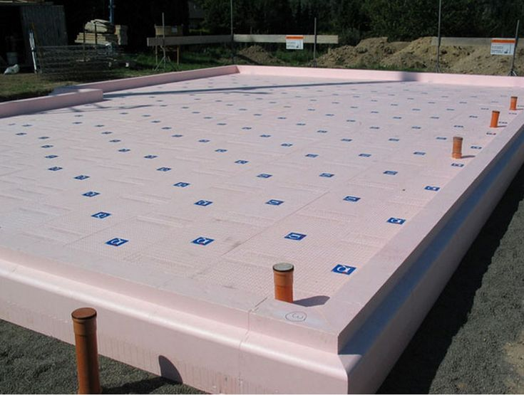 The eps formwork for an insulated raft foundation becomes for Foam forms for concrete