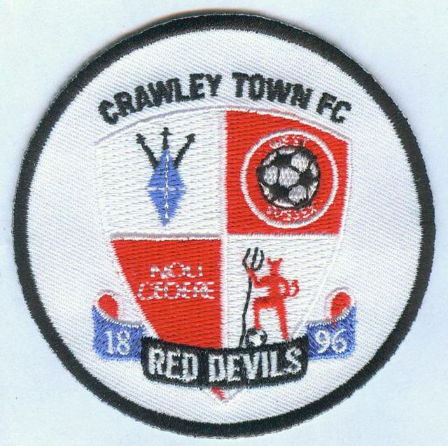 Crawley Town FC English England Football Badge Patch