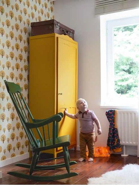 Geef een kleurboost aan je interieur! Foto: www.colora.be (kinderkamer • vintage • geel)