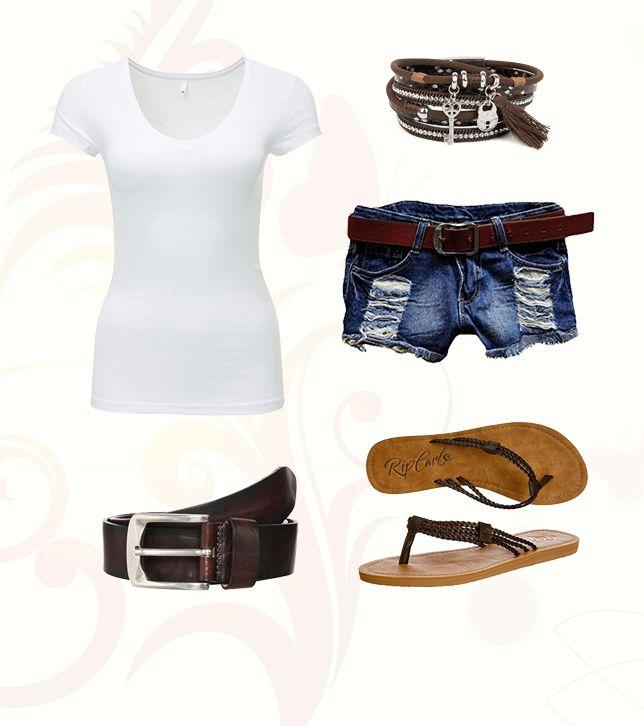 Cooler Sommer Fashion Style für die heißen Tage. #shorts #Sandalen #braun #jeans #sommer #mode