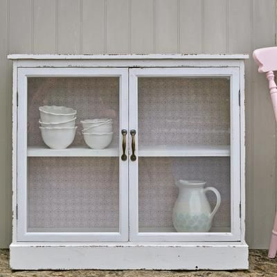 Inspirational Glass Fronted Wall Cabinet