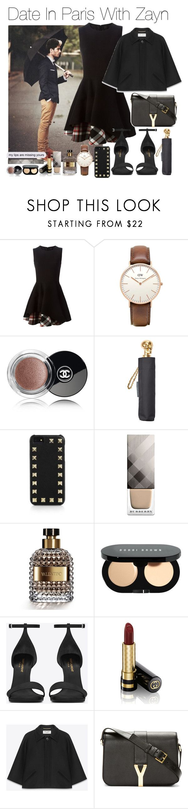 """""""Date In Paris With Zayn (Requested)"""" by one-direction-outfitsxxx ❤ liked on Polyvore featuring Alexander McQueen, Topshop, Chanel, Valentino, Burberry, Bobbi Brown Cosmetics, Yves Saint Laurent and Gucci"""