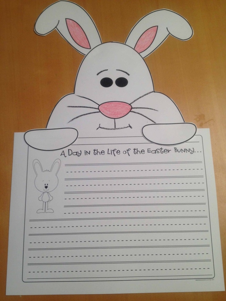 108 best kindergarten ideas for easter images on pinterest easter bunny writing negle Image collections