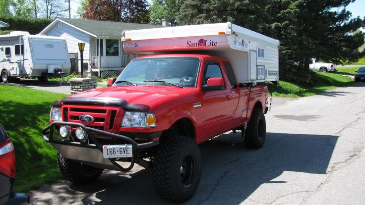 Slide In Camper Ford Ranger Pickup Truck Camping