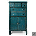 Love this turquoise blue chest!!