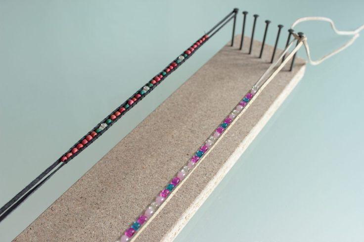 diy perlenarmb nder mit dem perlenwebrahmen yeah handmade diy projekte basteln und. Black Bedroom Furniture Sets. Home Design Ideas