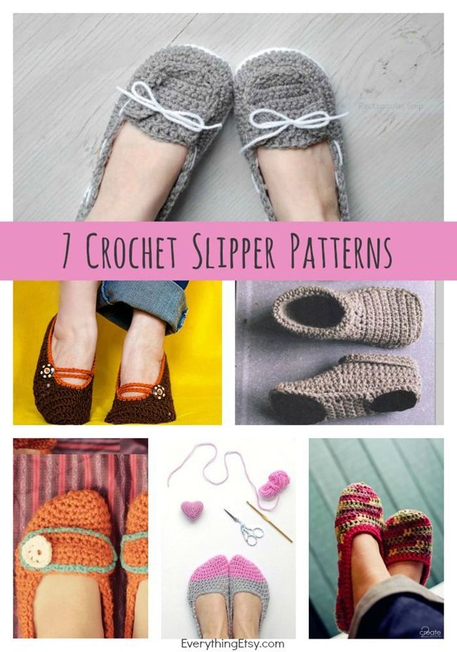 DIY Crochet Slipper Patterns {7 Free Designs}
