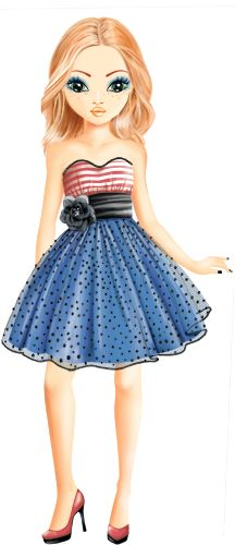 I WOULD wear a dress like this on the 4th of July!