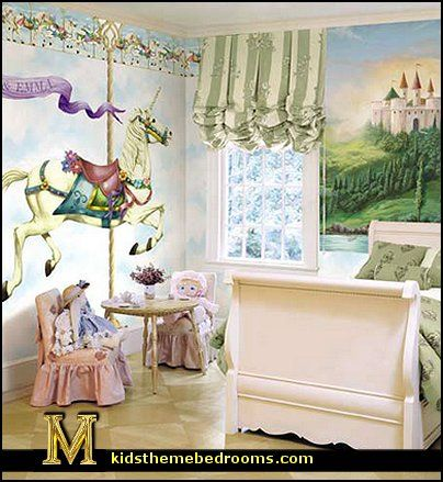 crochet baby blanket carousel horse unicorn carousel wall mural set unicorn carousel wall. Black Bedroom Furniture Sets. Home Design Ideas