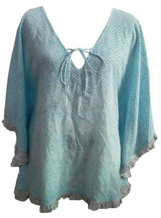 Blue Kaftan Top www.resortwear.co.nz