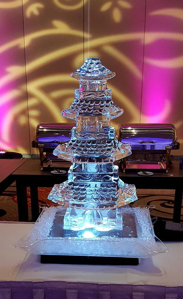 Paa Ice Sculpture For A Wedding Reception Icesculptures Icepro