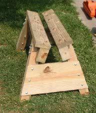 39 Free Sawhorse Plans in the Hunt for the Ultimate Sawhorse | This one is for cutting wood with a chainsaw.