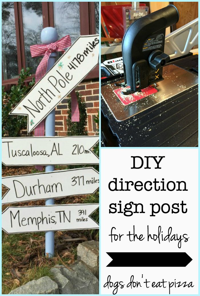 Diy Direction Sign Post For The Holidays Winter Holiday