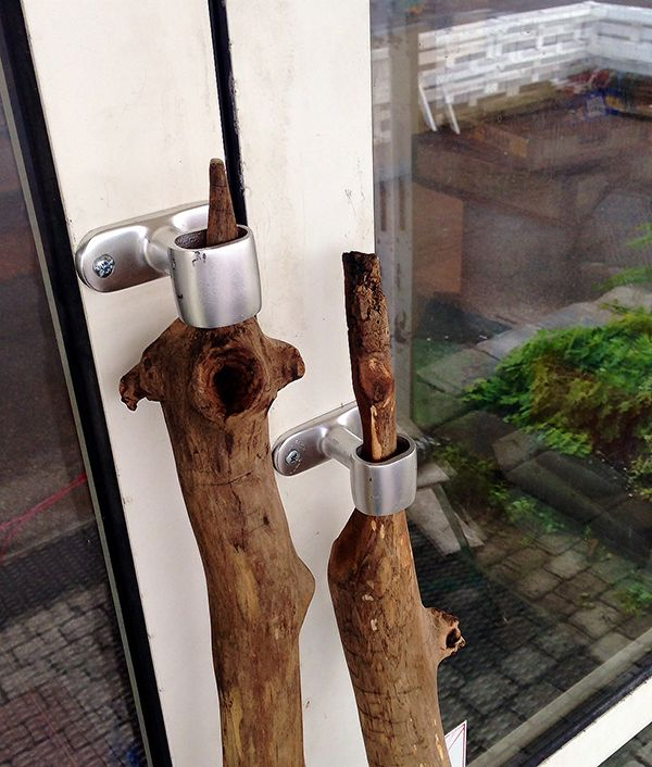 #driftwood door handles