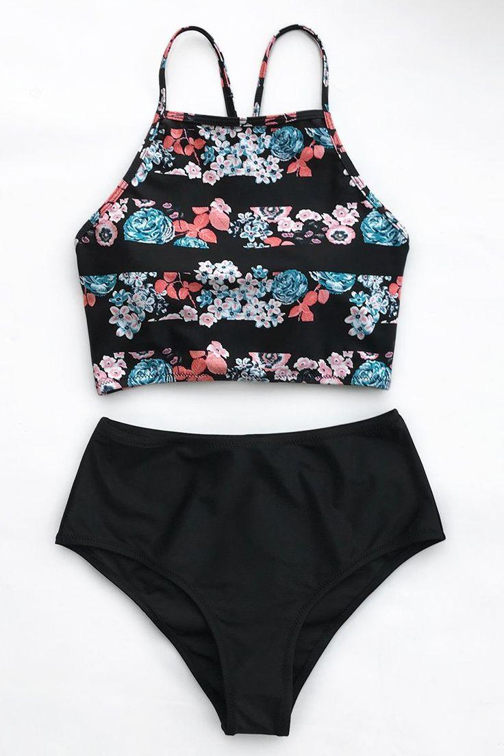 Cupshe Ice Shards Tank Bikini Set Design
