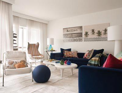 lacivert-koltuk-dekorasyon