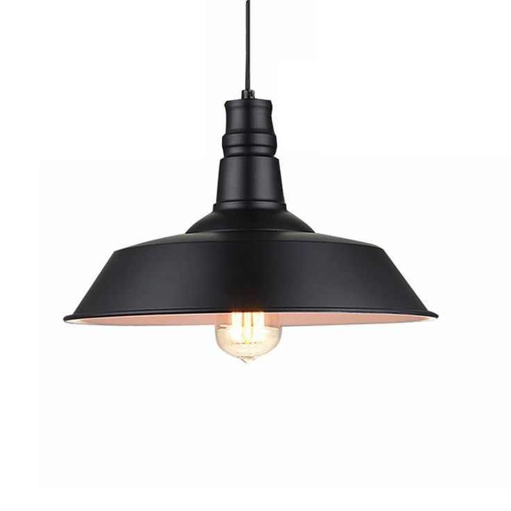 ASCELINA Industrial Vintage Pendant Lights Retro LED Lamp Black White Pot Droplight For Restaurant Bar