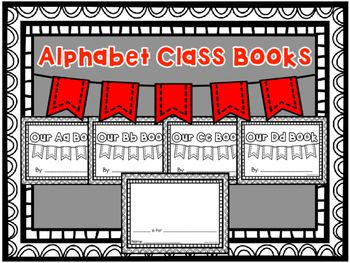 Alphabet Class Book- Create a class book for each letter in the alphabet using this packet. For each letter the students will get a page and choose something that starts with the focus letter. They will write the word and draw a picture of it.
