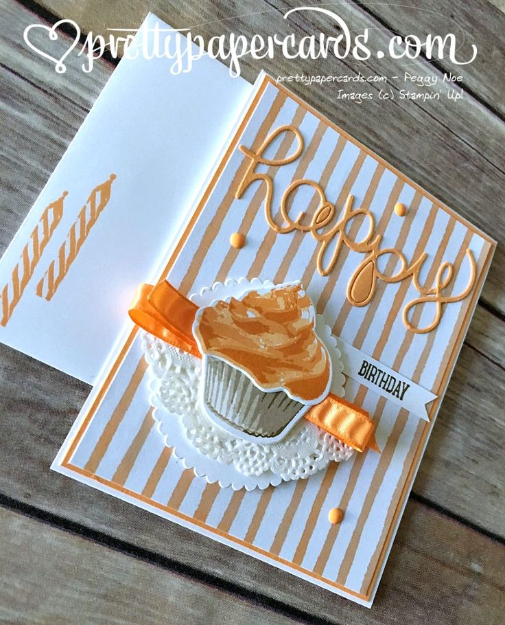 Sweet Cupcakes! - Pretty Paper Cards #cupcakecutouts #stampinup #birthday…