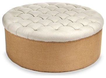 Tufted Round Ottoman - Transitional - Ottomans And Cubes - Bliss Home  Design