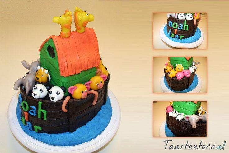 Ark van Noach taart (voor Noah)  Noah's Ark (cake for Noah)