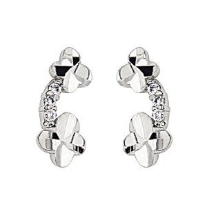 .925 Sterling Silver Rhodium Plated Flower CZ Stud Earrings with Screw-back for Children & Women GoldenMine. $21.00. This item qualifies for FREE-SHIPPING with purchase of over $30.00. Rhodium Coated for a lasting shine...and no silver tarnish. Complete with complimentary Gift Box for Gift Giving. Guaranteed to contain NO nickel content...completely hypoallergenic.. Manufactured using only up-to-date manufacturing techniques ensuring excellent quality and value.. Save 71%!