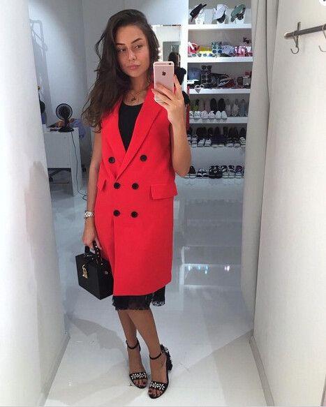 TAOVK 2017 новая мода Русский стиль женщины Осень Жилет Красный Белый Розовый и Желтый лацкан сплошной цвет жилет пальто купить на AliExpress
