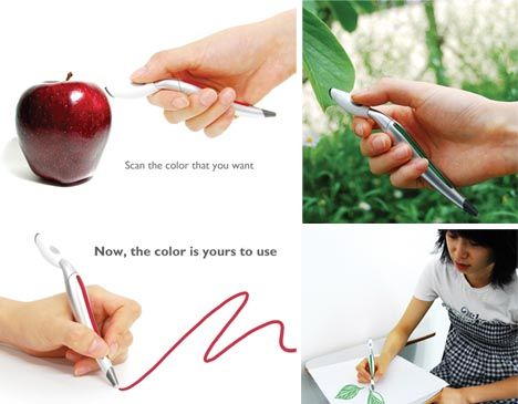 A pen you scan colors with and then it makes that color for you!