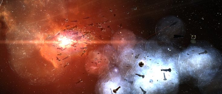So from what I understand the recent battle in Eve Online cost over $300k real-world value, thus making it the most destructive battle in gaming history. It all started over a missed payment for sector control to the in-game police force, Concord. This is comparable to World War 3 starting when someone misses the rent on their airfield by a day. ~Sidewinder -------------The Bloodbath of B-R5RB, Gaming's Most Destructive Battle Ever - EVE Community